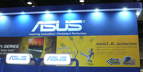 ASUS' notebooks are the main attraction at the IT Show 2010, with quite a few retailers hawking their products.