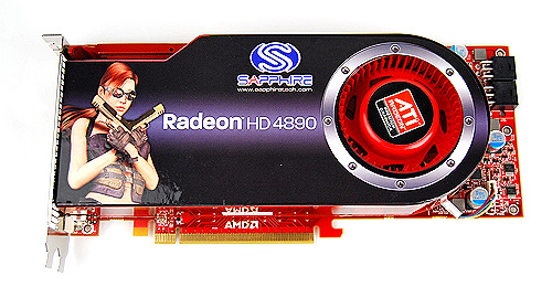 The Sapphire card looks identical to the other two HD 4890 cards we've seen earlier. Underneath, however, it sports higher clock speeds. As they say, never judge a book by its cover.