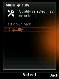 Of course, if you require quality over speed, you can choose to download CD quality tracks which'll take a bit more time to complete the download