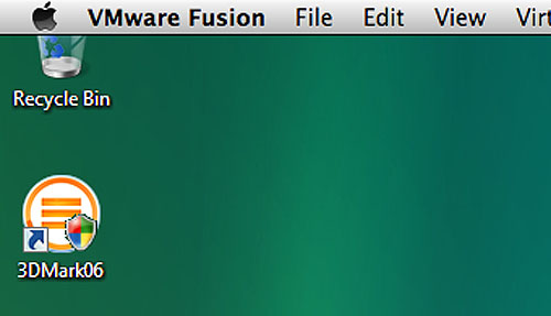 Another nice touch that VMware Fusion has is the behavior of its application toolbar. Even in full screen mode, one can access the Fusion toolbar just by moving the mouse cursor to the top of the screen. Of course, power users will likely know the proper shortcuts by heart in a snap, but it has its uses.