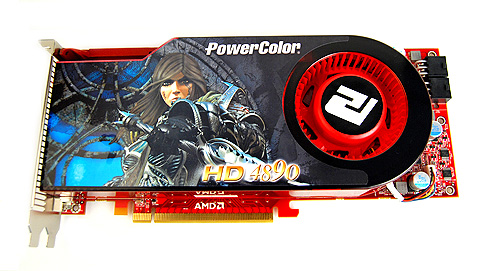 The PowerColor HD 4890 looks exactly identical to the ASUS EAH4980. If both of them had the stickers on their coolers peeled, we would be hard pressed to tell which is which.