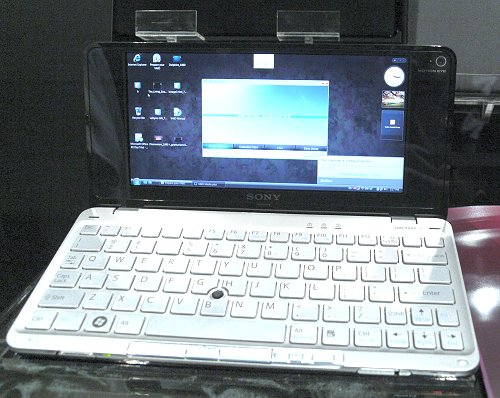 Our first glimpse of the Sony VAIO P (not including pictures found on the interwebs, of course).