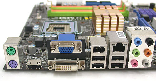 There are many ports that are useful for those looking for a media center board, including HDMI, DVI and the standard VGA. However, the mATX form factor means there are some notable omissions like S/PDIF and eSATA. The four USB 2.0 ports are also relatively few.