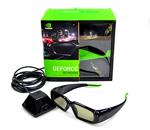NVIDIA's GeForce 3D Vision comes with everything you need to enjoy the 3D stereoscopic experience (minus the monitor).