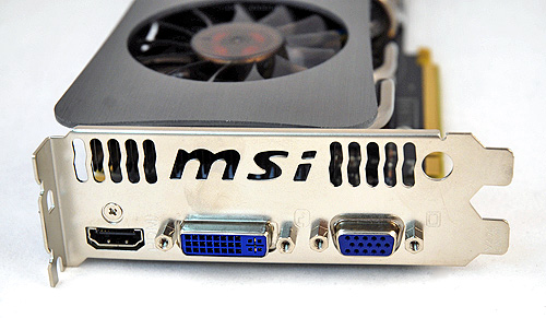 If you are wondering about video connectivity options, the MSI N260GTX Lightning Black Edition has one of each: a VGA, DVI and HDMI port.