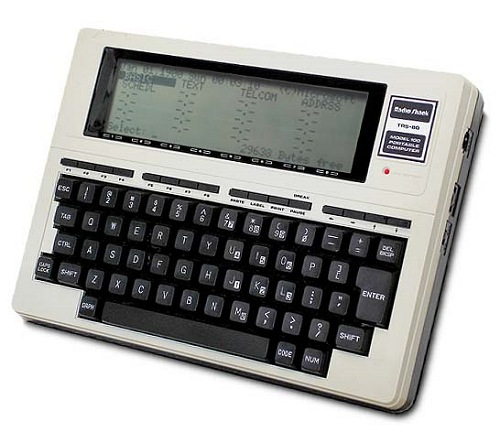 The Tandy 100 was an extremely popular model with journalists as it allowed them to quickly type out articles and transmit them back to the office using the onboard modem.