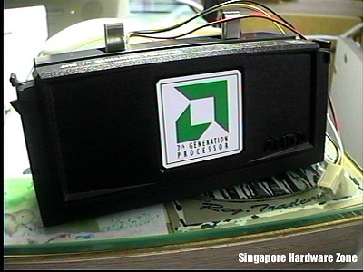The original Athlon K7 500MHz processor as tested by HardwareZone.
