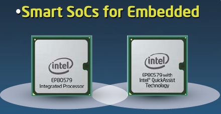 Formerly codenamed Tolapi, the EP80579 Integrated Processor family is the first Intel x 86 SoC product and is aimed at the embedded applications market.