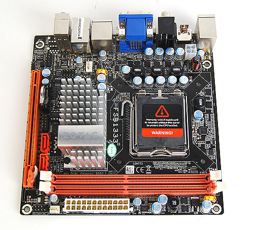 Here's the Zotac GeForce 9300-ITX WiFi motherboard again as we scrutinize its features and layout.