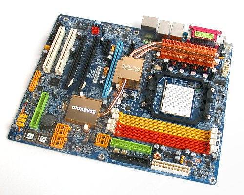 Gigabyte's nForce 590 SLI board that we got an early preview of.