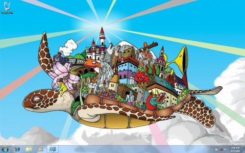 We kid you not, these are some of the funky wallpapers now packed with Windows 7 Release Candidate.