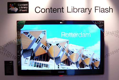 The new LED HDTV range will carry Samsung's Medi@2.0 solution, which covers incentives such as their Content Library, USB 2.0 Movie and Internet@TV options.