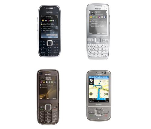 Nokia E75, Nokia E55, Nokia 6710 Navigator and Nokia 6720 Classic.