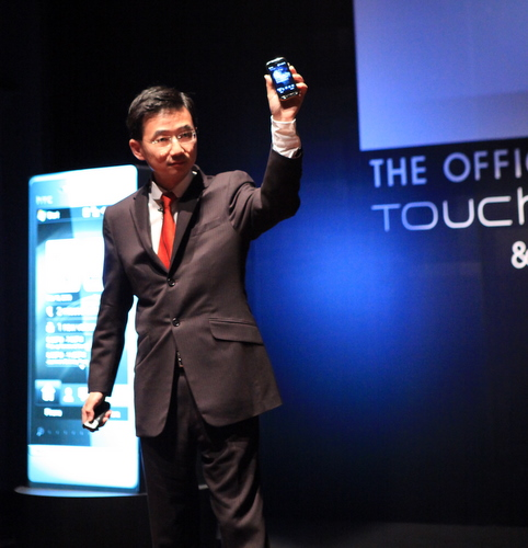 In a cloud of smoke, Southeast Asia managing director Kevin Hou, chief marketing officer John Wang and Singapore country manager Melvin Chua unveiled the Touch Pro2. Standing by was actress and MC-incumbent Elizabeth Tan.