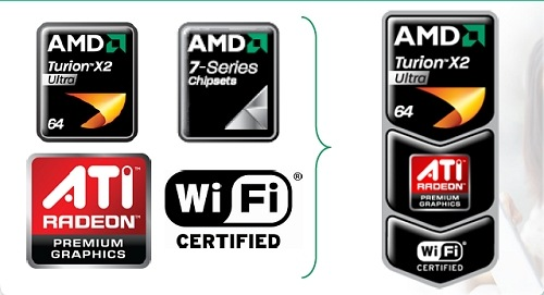 AMD's Puma platform doesn't have an easy to remember logo like Intel. Instead it allows manufacturers to combine from a choice of three ingredients, which may be confusing to laymen.