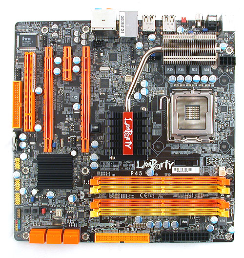 DFI has simply cut down the number of expansion slots to ensure that this boards fits the microATX form factor.