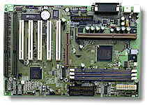 A typical 440BX board, the Aopen AX6BC had an impressive 5 PCI expansion slots and had many overclocker friendly options, like saving your BIOS settings and a jumperless CPU configuration.