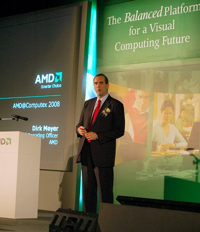 The launch was so pivotal that Dirk Meyer, AMD's President and Chief Operating Officer himself was present to give us an update of how AMD is progressing.