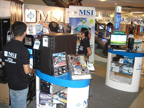 Also setup at the venue was booths for MSI, HardwareZone's partner for Iron Tech 2008.