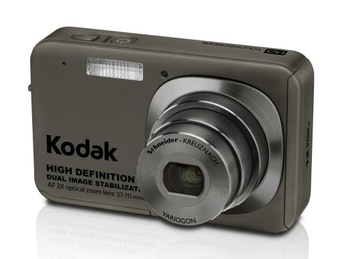 One of the more interesting digital cameras, the KODAK EASYSHARE V1273 offers up a 12-megapixel sensor and HD video recording capabilities that can be viewed full screen on HDTVs through the KODAK HDTV Dock.