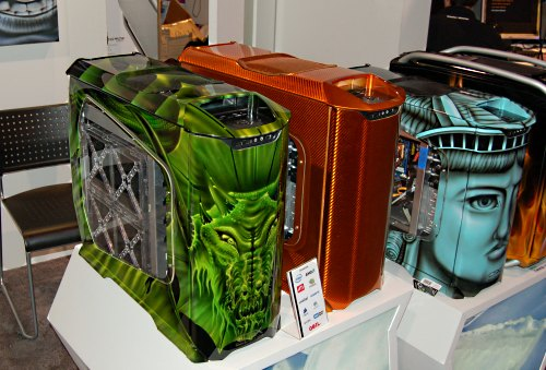 More CSX hand painted designs on display. Cooler Master even had SCX painting demonstrations to show just how an ordinary Cooler Master case is turned into a work of art.