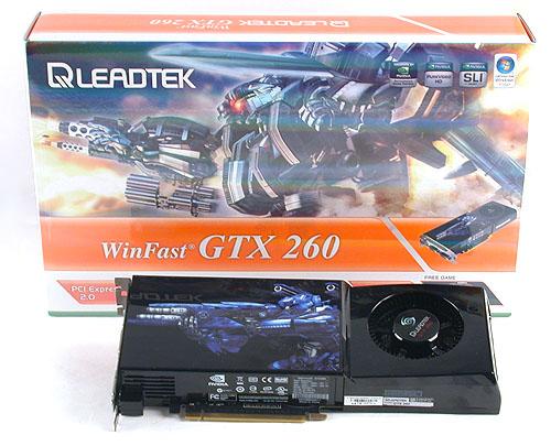 The latest addition to its WinFast series, the GeForce GTX 260. This is a standard version with the default clock speeds.