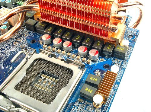 Similar to the GA-965P-DQ6, this board also has a 12-phase power delivery system.