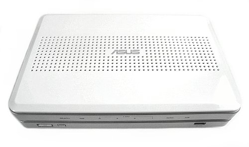 Top of the ASUS WL-700gE multifunctional wireless BroadRange router.