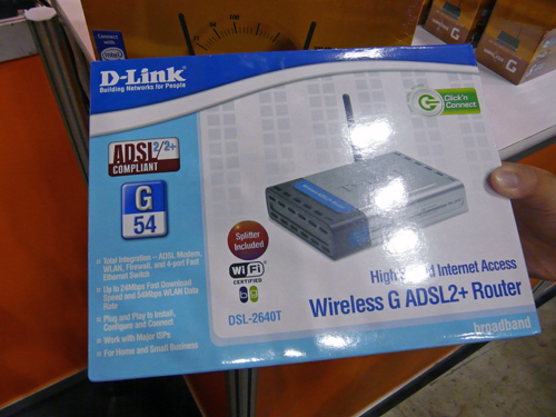 The Star Buy of D-Link? It would be the DSL-2640T router with integrated modem as featured here at $89.