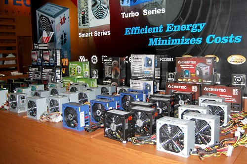 Chieftec also has a range of PSUs that range from the lower end 350W to the more higher end 1020W units.
