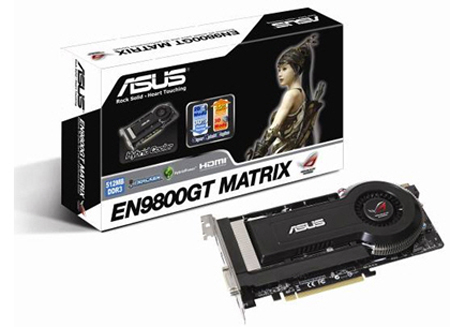 The ASUS GeForce 9800 GT Matrix didn't come in its retail packaging, so you'll have to make do with this. In anycase, we think that the black and white color scheme looks good.