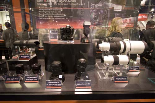 Amidst rife speculation that their pro-level camera will be full-frame, Sony didn't disappoint by first announcing their current development with regards to the full frame sensor just days before PMA. They displayed the body of the camera, together with a whole range of lenses which we can only assume will be launched together with the new camera.
