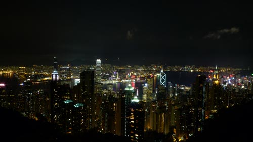 Sample shot at ISO80 from Victoria Peak. Taken with a LX3 pre-production unit.