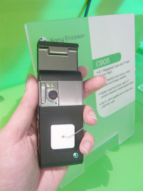 The Sony Ericsson C905 Cyber-shot, the 8.1-megapixel camera phone that should capture (literally) the hearts of many with its Q4 arrival in 2008. And yes, as you might have noticed, the C905 Cyber-shot is a slider phone.