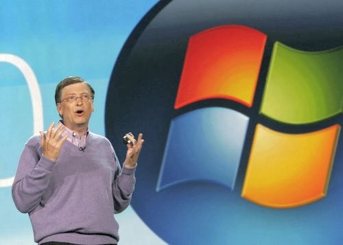 During his pre-CES keynote conference to a crowd of some 4000 journalists, of which he announced would be his last as he will retire in July 2008. Microsoft Corp. Chairman and co-founder Bill Gates drew laughter with his 'retirement video' that featured Bono, Steven Spielberg, Matthew McConaughey, Democrat candidates Hilary Clinton and Barrack Obama.