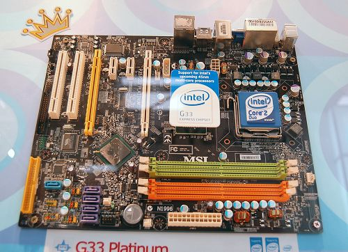 The Intel G33 and P35 chipsets not only support DDR3, but also DDR2. Here's the G33 Platinum using DDR2 memory.