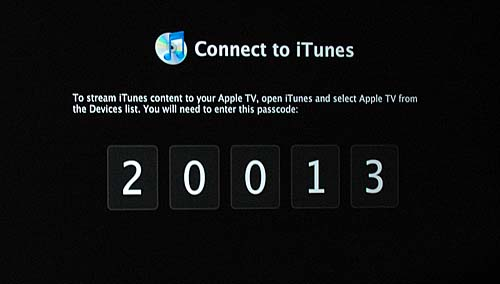 This shot is pretty much self-explanatory. Some form of authentication is needed before you can stream iTunes content to your Apple TV. All you need to do is to open iTunes, select Apple TV from the Devices list and enter the given password. And viola!
