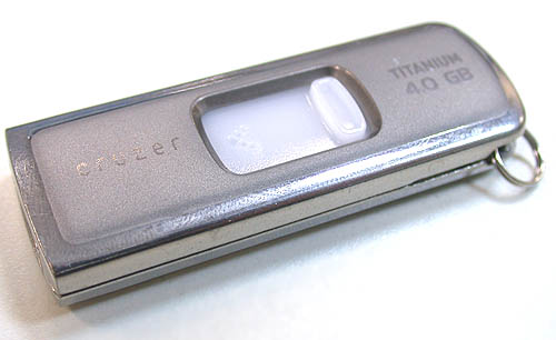 This Sandisk Cruzer 4GB Titanium thumb drive is ReadyBoost capable and will be used in our testing.