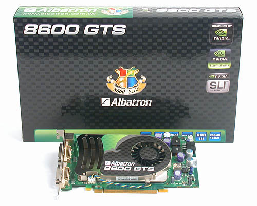 Albatron's GeForce 8600 GTS 256MB.