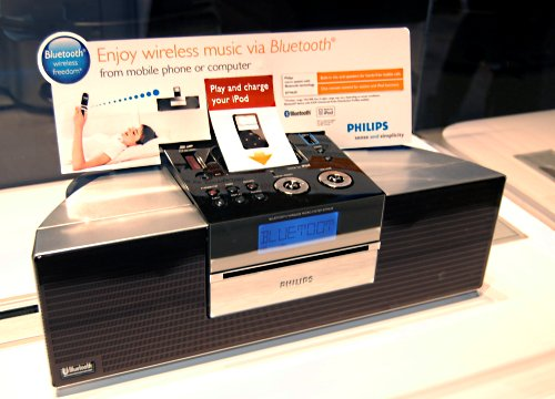Another look at the new Design Collection BTM630 Bluetooth Wireless Entertainment system. With the BTM630, you can listen to music via multiple sources including Bluetooth, iPod, CD, radio, USB and SD card. It offers one touch MP3 recording and acts as a hands-free speakerphone for incoming mobile calls if you're connected via Bluetooth.