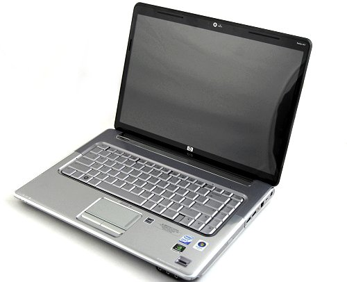 Our test unit, the HP Pavilion dv5 which features an Intel Core 2 Duo T9600 (2.8GHz) processor, 4GB DDR2 RAM, 15.4-inch screen, NVIDIA 9600M GT graphics chipset and a Blu-ray optical drive. As a bonus, the dv5 has a very easily removable HDD compartment at the back which holds a 2.5-inch Western Digital Scorpio Blue 320GB.