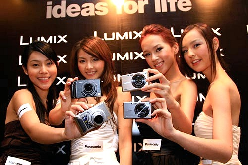 Four digital still cameras, Four beauties.... mmm... doesn't get any better than this!