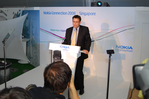 Held at the Singapore Recreation Club on the 16th of June, just a day before the start of CommunicAsia 2008, Nokia hosts its annual Nokia Connection event, and in an opening speech, Chris Carr, Vice President, Sales, Southeast Asia and Pacific, Nokia, announces the availability of two brand new E-series devices, the Nokia E71 and Nokia E66.