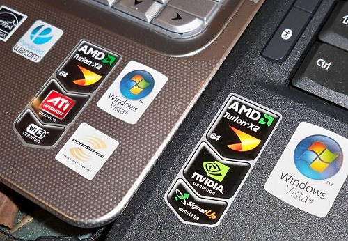 As seen here by their marketing logo labels, when AMD meant they will support an open platform initiative, they really mean it. And there is no better proof than this. Kudos to AMD. Also seen are the differing Wi-Fi labels indicating different vendor solutions.