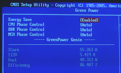 MSI says that all you need to utilize its power savings technology is to enable the options here through the BIOS. Obviously, related technologies like Intel's EIST should be enabled too.