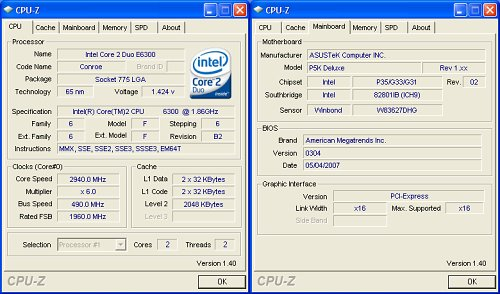 Overclocking and Test Setup : ASUS P5K Deluxe/WiFi-AP (Intel P35