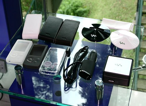 What's a lifestyle product without accessories right? From the picture, it's safe to say that Sony has had that area well and truly covered.