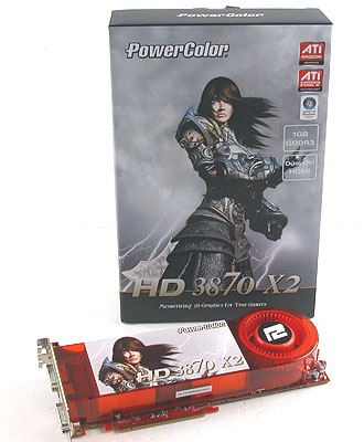 PowerColor has stuck to the same compact packaging for its products for some time now and they managed the same for the heavy duty Radeon HD 3870 X2.