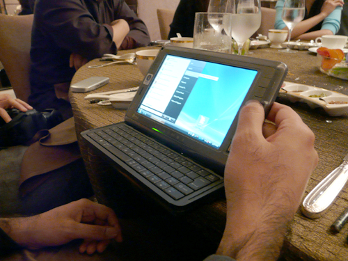 """Designed with a 7"""", 800 x 480 TFT-LCD screen with touch sensitivity, and alternating between Windows Vista Business and HTC's very own SnapVue interface, the Shift could find itself well liked by business users who are looking for a push e-mail service on a Windows platform."""