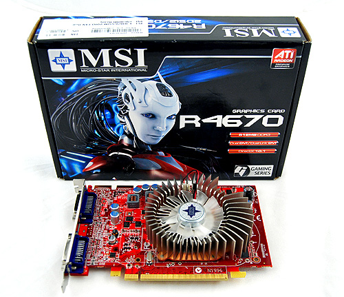 Funny how the higher-end MSI products come in gigantic boxes, while the more budget-minded ones, such as this, come in tiny no-frills packaging.